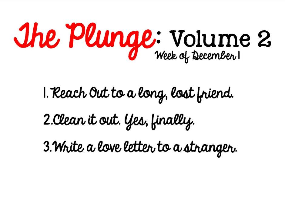 Plunge Week 2