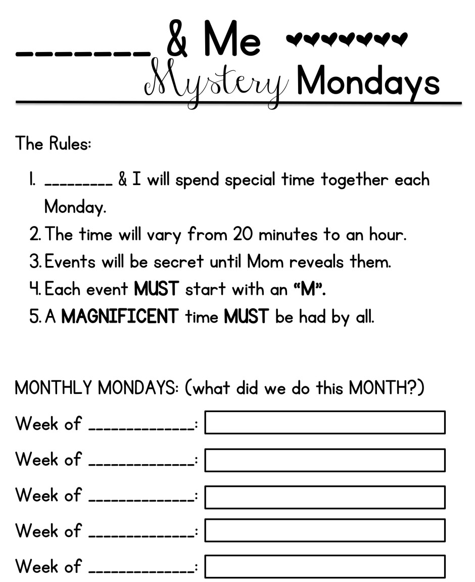 Anyone & Me Mystery Mondays
