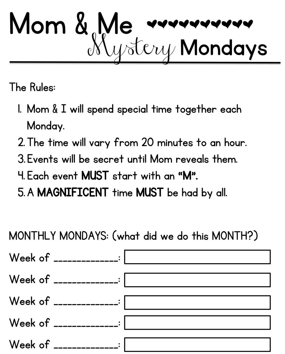 Mom & Me Mondays