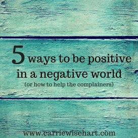5 ways tocrush complaining