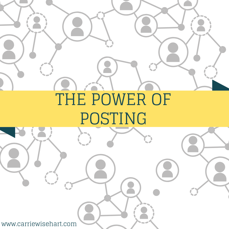 the power of posting