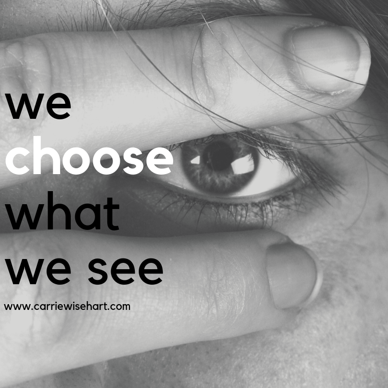 we choose what we see